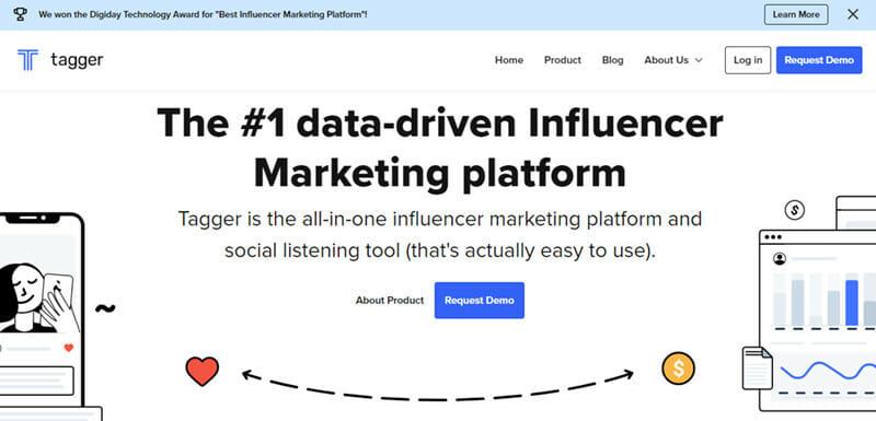 Tagger ia a Data Driven Influencer Marketing Platform