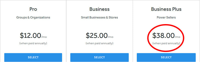 Weebly Business Plus Plan for Power Sellers