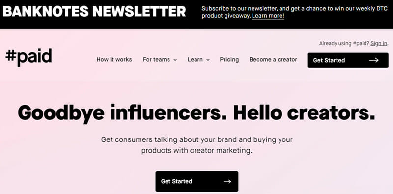 #paid is the Best IM Platform for utilizing Non Traditional Models of Influencer Marketing