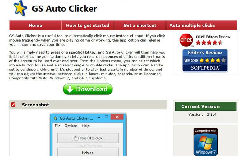 GS Auto Clicker is the Best Auto Clicker for Windows