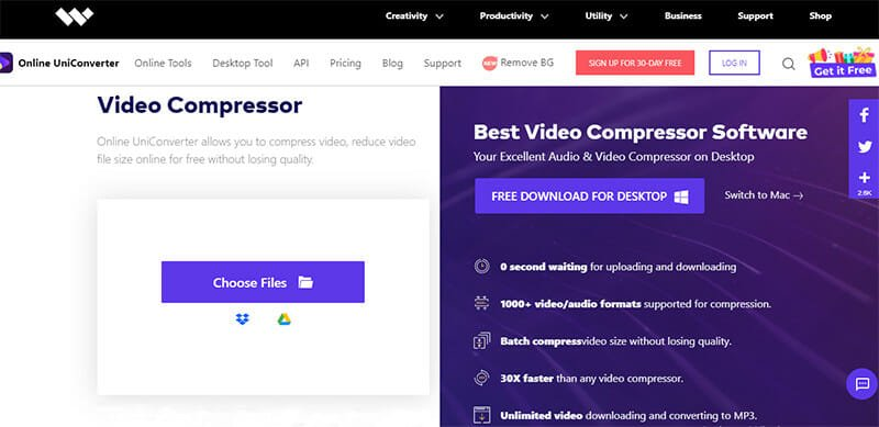 Online UniConverter is the Best Video Compressor for Efficient Online and Offline Video Conversion and Compression