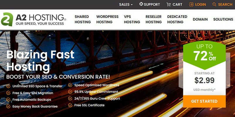A2 Hosting is the Best web hosting that is user friendly and easy to use