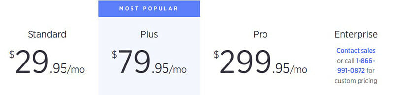 BigCommerce Pricing Plan