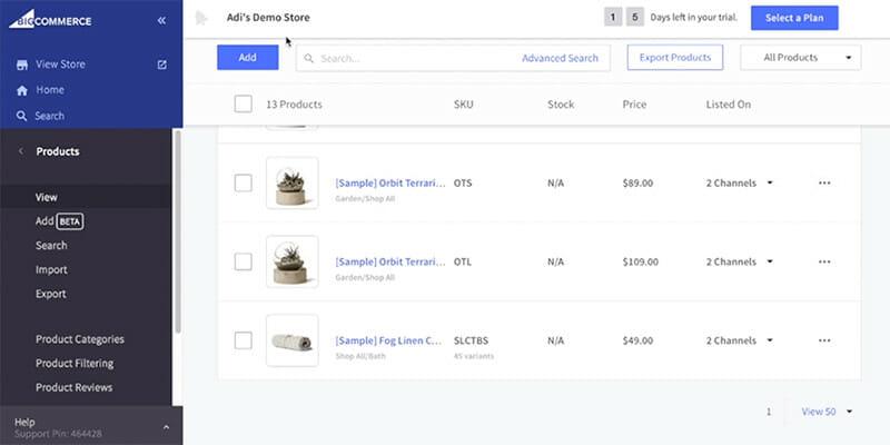 BigCommerce Product Demo