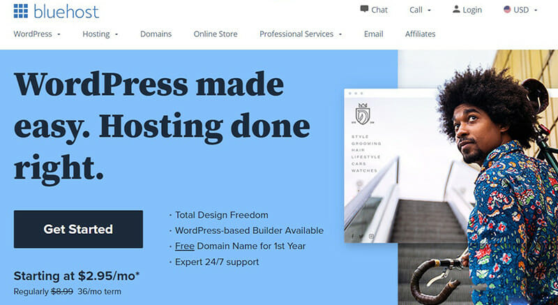 Bluehost is the Best all in one domain hosting service for small businesses