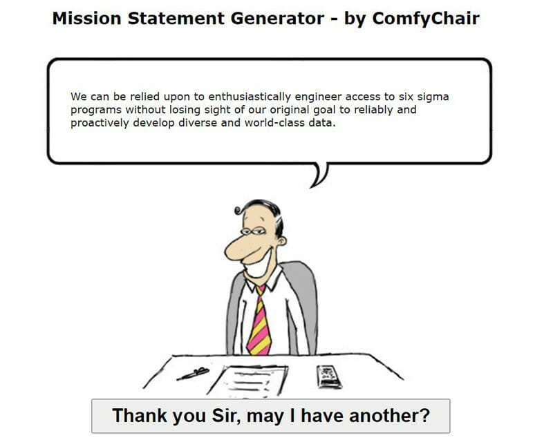 ComfyChair Offers Comfort Through Pre Generated Mission Statements