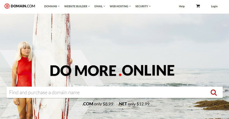 Domain.com is the Best domain host for small to medium sized businesses