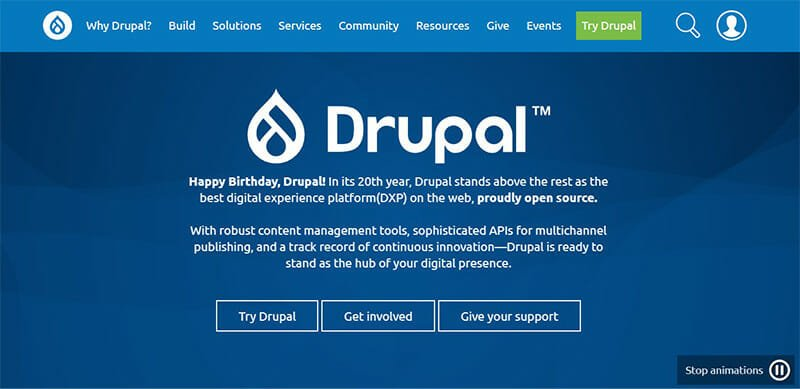 Drupal is the Best CMS Software for Managing Large Amounts of Data through a Built In User Access System