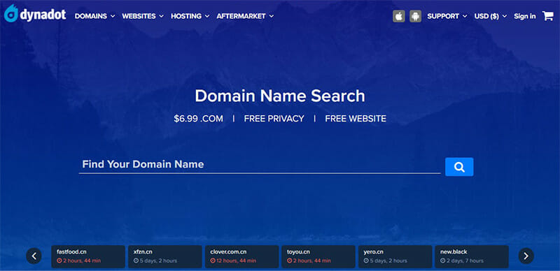 Dynadot is the Best domain hosting service for a simple domain registration process