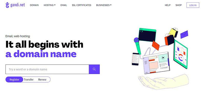 Gandi.net is the Best domain registration service for easy, simplified domain registration