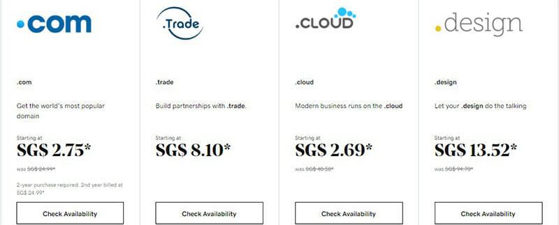 GoDaddy Domain Pricing Plan