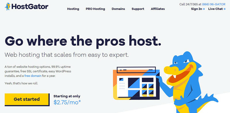 HostGator is the Best web host for small business owners new to website building