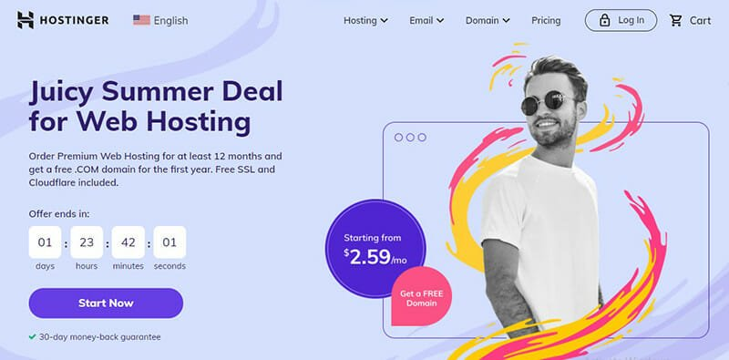 Hostinger is the Best cheap hosting service for experienced WordPress developers