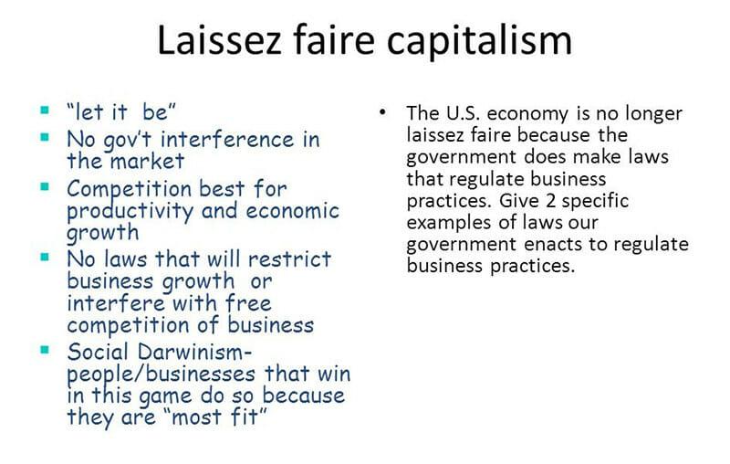 Laissez Faire Capitalism