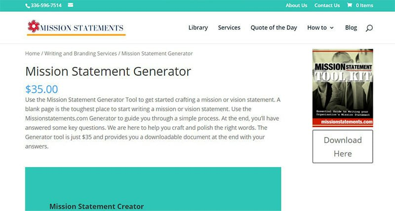 Mission Statements is the Best Mission Statement Generator for Long Mission Statements