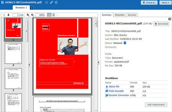 Oracle WebCenter Content Features