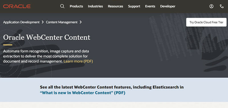 Oracle WebCenter Content is the Best Enterprise CMS Software for Delivering Content to Any Application
