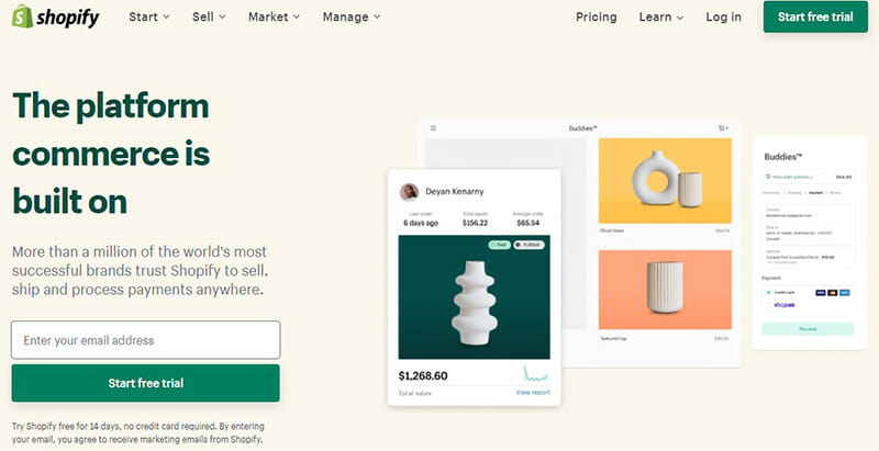 Shopify is All in One Hosted CMS Software