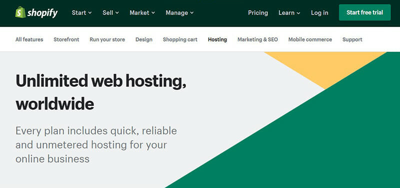 Shopify is the Best web hosting service for eCommerce websites