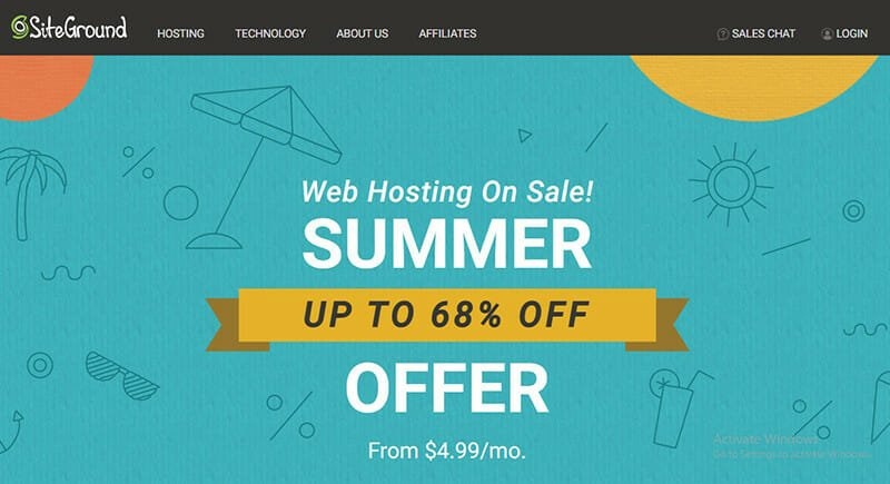 SiteGround is the Best web host that accommodates businesses of all sizes