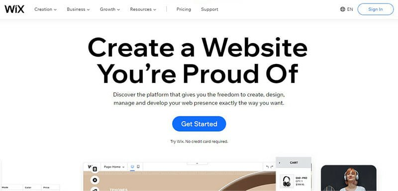 Wix is the Best CMS Software with Visually Impressive Layouts for Small Businesses