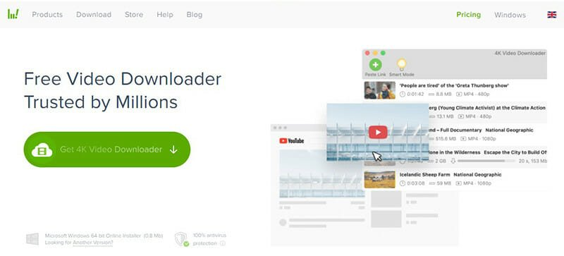 4K Video Downloader is the Best for fast downloads of high quality videos