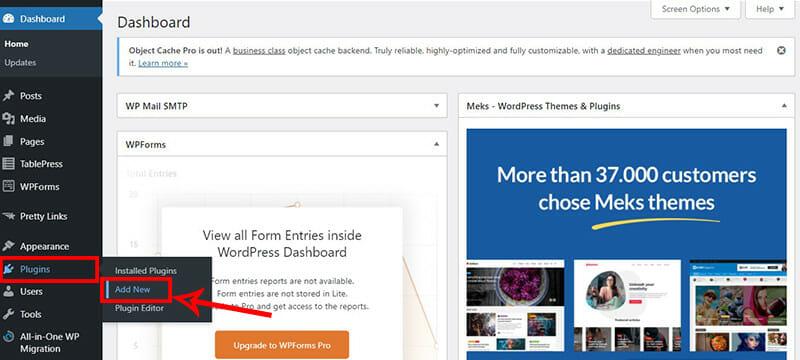 Add a new plugin to your WordPress blog