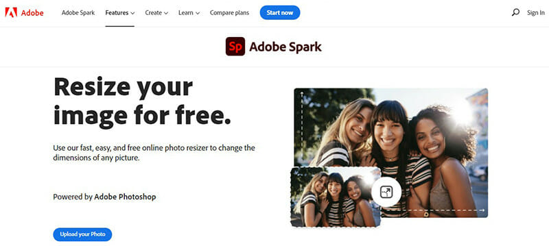 Adobe Spark is the Best Image Optimizer Tool with Dedicated Dimensions