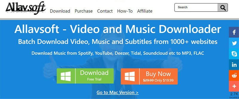 Allavsoft is the Best for downloading music from streaming services