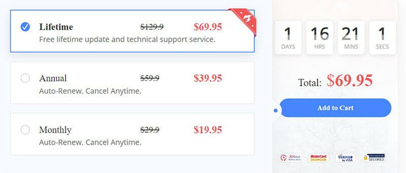 Apowersoft Pro version Pricing Plan