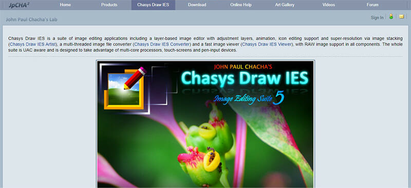 Chasys Draw IES is the Best Free Lightroom Alternative for Multimedia Editing