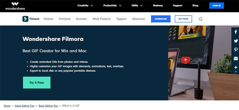 Filmora by Wondershare is the Best Video to GIF Converter with the Most Comprehensive And Effective Options