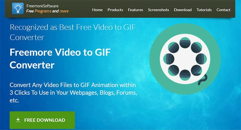 Freemore is the Best Video to GIF Converter with Highest Amount of Supported Input Formats