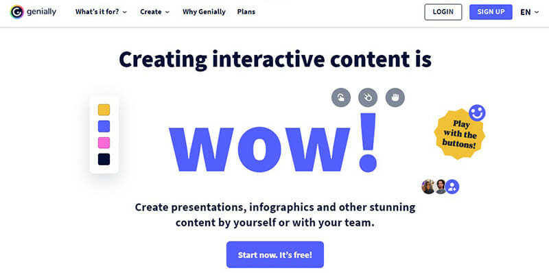 Genially is a Web based Tool that Allows to Create Animated Infographics and Games