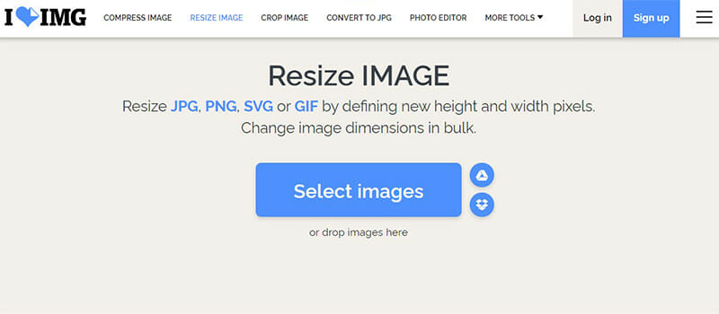 ILoveIMG is the Best Image Resizer with Unlimited Bulk Processing and a Useful Quality Control Option