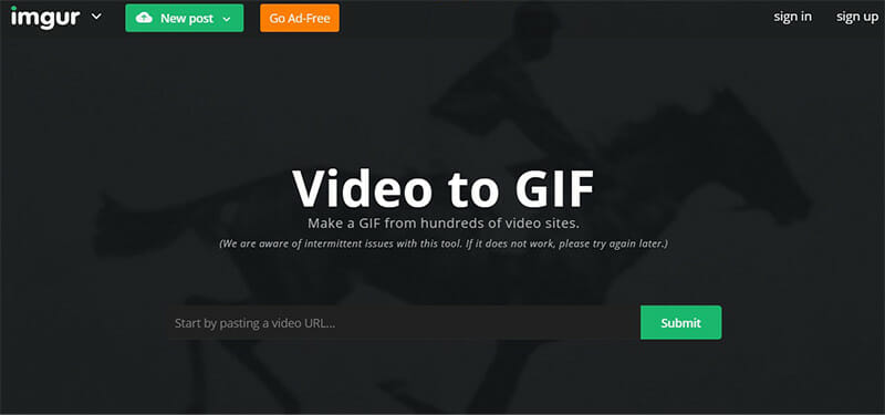 Imgur is the Best Video to GIF Converters with Automatic Captions that Supports Lots of Video Websites