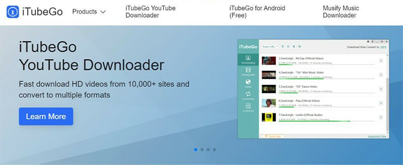 Itubego is the Best for downloading high quality videos from multiple streaming platforms