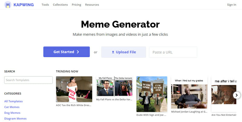 Kapwing is the Best Free Online Meme Generator for Extracting Memes from GIF and Video Files