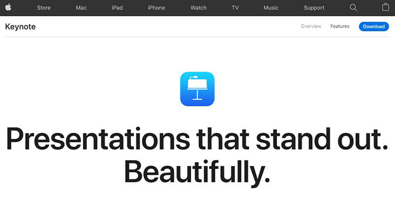 Keynote is a Native Apple Presentation Software Exclusive to Mac OS Users