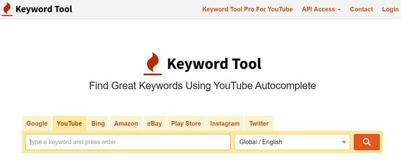 Keyword Tool is a YouTube Tag Generator that Uses the Autocomplete Feature to Generate Tags