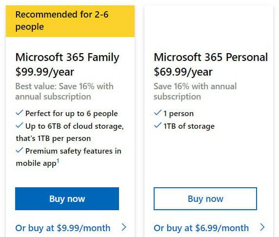 Microsoft PowerPoint Pricing Plan