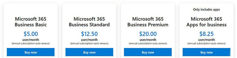 Microsoft Sway Pricing Plan