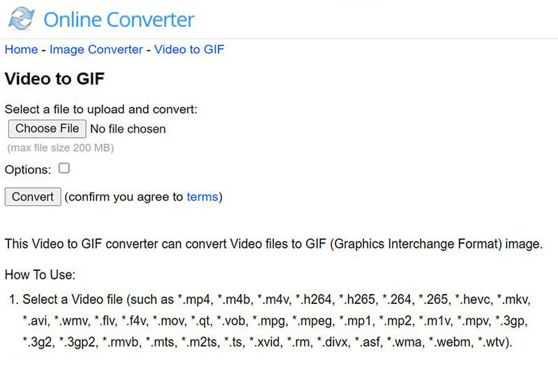 Online Converter is the Best Video to GIF Converter that can Manually Set Exact Dimensions