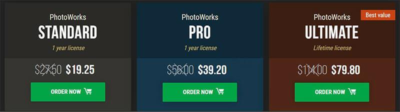 PhotoWorks Pricing Plan