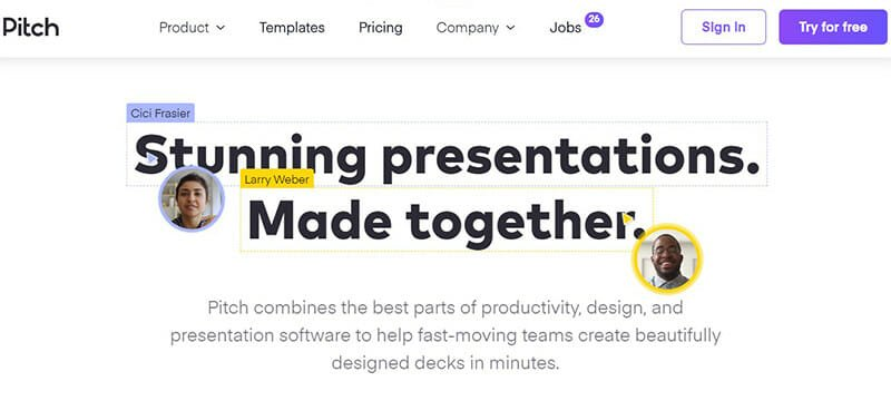 Pitch is a Collaborative Presentation Software for Modern Teams