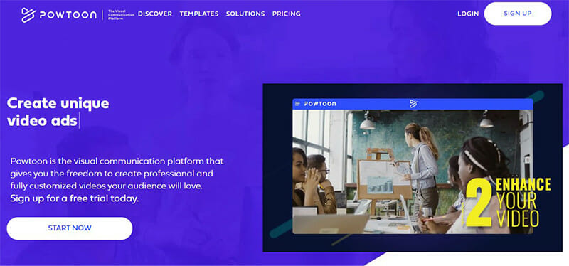 Powtoon is a Visual Communication Platform for Creating Animated Videos and Presentations