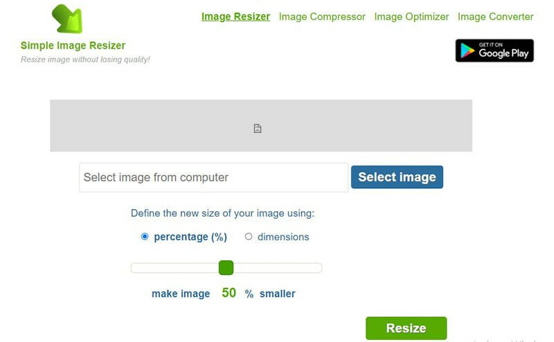 Simple Image Resizer is the Best Simple and Free Image Resizer and Optimizer Tool
