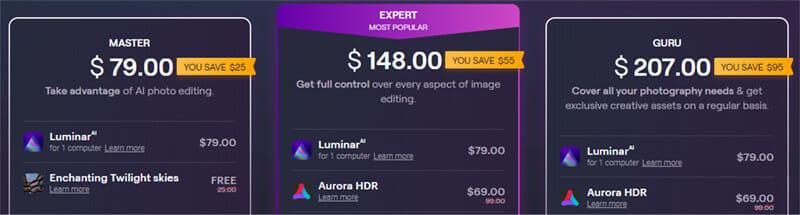 Skylum Luminar AI Pricing Plan