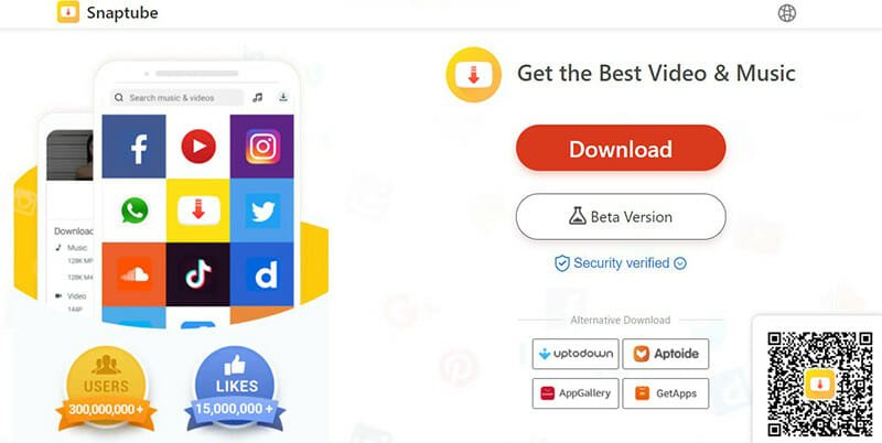 Snaptube is the Best for free and fast downloads of YouTube and social media videos