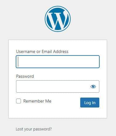 Start by logging into WordPress admin panel